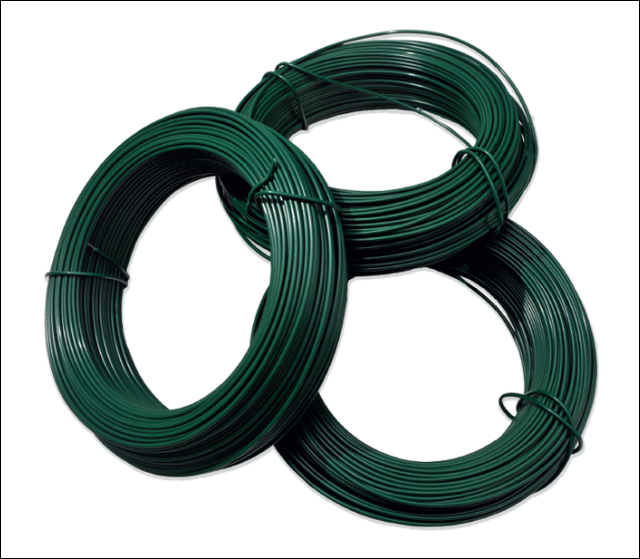 25kg coil plastic coated galv.iron wire