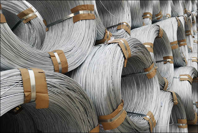 1000 lb reels hot dipped galvanized cable wire